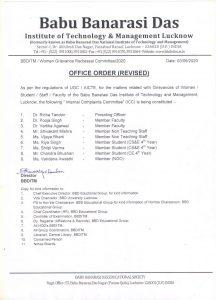 BBDNITM Women Grievance Redressal Committee